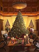 Christmas scene interior