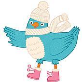 Cute Christmas bird