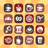 color vector coffee icons