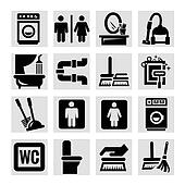 cleaning vector icons set