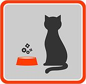 cat and feed icon