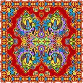 Traditional Ornamental Floral Paisley Bandana