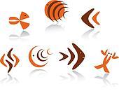 Underwater animals symbols