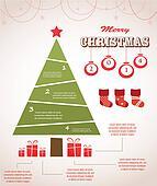 christmas infographic icon set