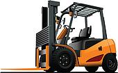 Lift truck. Forklift. Vector illust