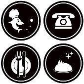black icons for fish menu