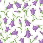 Bluebell seamless pattern