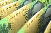 Australian Dollar Closeup