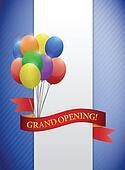 grand opening ribbon card illustration design