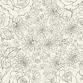 Seamless pattern from chrysanthemums
