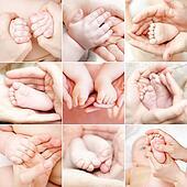 Tiny feet and hand set