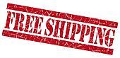 Free shipping red grunge stamp