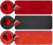 Three Love Banners