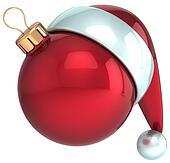 Christmas ball Santa Claus hat Xmas