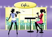 illutration of cafe
