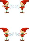 Red Elf - Holding Letter