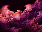 red and magenta fractal sunrise waves background