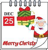 Holiday Calendar With Santa Claus