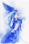 Beautiful fairy in blue