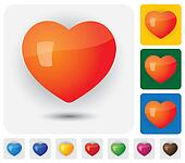 human heart icons ( signs ) for love, passion, romance & health