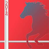 Christmas Horse silhouette symbol