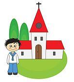 Boy first Communion Invitation Card