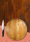 Cutting Board on Wood Table
