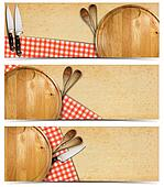 Set of Cooking Banners