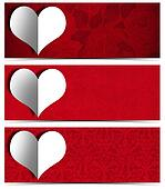 White Paper Heart - Three Banners