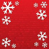 Merry Christmas background with snowflakes.