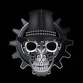 Steampunk skull wearing top hat