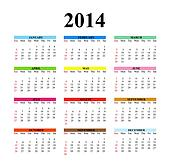 2014 Clear Simple Calendar
