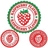 Raspberry flavor stamp