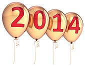 Happy New Year 2014 party balloons