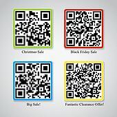 Black Friday QR code stickers