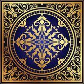 oriental blue & gold rug