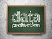 Protection concept: Data Protection on chalkboard background