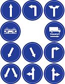 traffic direction signs
