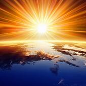 Sun above Earth