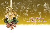 Merry Christmas and Happy New Year gold background with Christmas balls