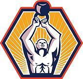 Crossift Athlete Lifting Kettlebell Front Retro