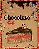 Vector Chocolate Cake Sign