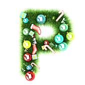 Cristmas alphabet letter