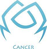 Simplistic Cancer Zodiac Star Sign
