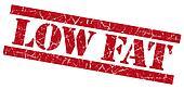 Low fat grunge red stamp