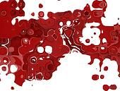 Abstract red splatter