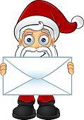 Santa Claus - Holding Big Letter