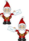 Santa Claus - Holding Letter