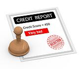 3d bad credit score report