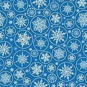 Falling Snowflakes Seamless Pattern Background